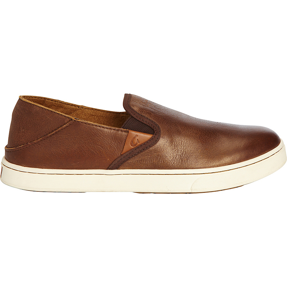 OluKai Womens Pehuea Leather Slip-On 7.5 - Bronze/Dark Java - OluKai Womens Footwear - Apparel & Footwear, Women's Footwear