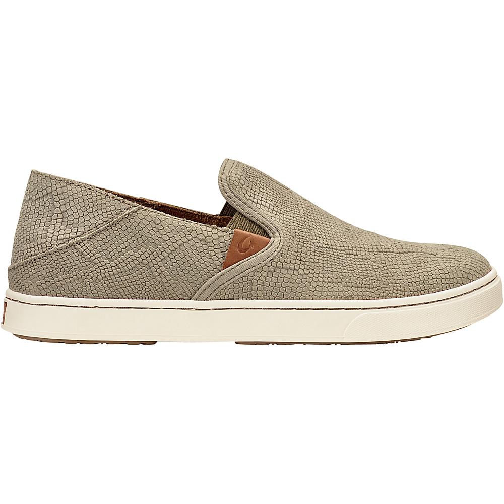 OluKai Womens Pehuea Leather Slip-On 7.5 - Clay Honu/Clay - OluKai Womens Footwear - Apparel & Footwear, Women's Footwear