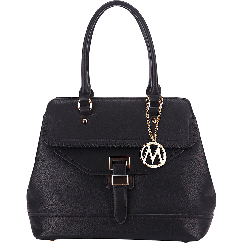MKF Collection by Mia K. Farrow Stitched Mama Handbag Black - MKF Collection by Mia K. Farrow Manmade Handbags - Handbags, Manmade Handbags