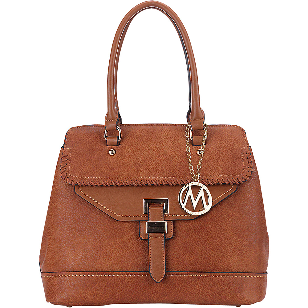 MKF Collection by Mia K. Farrow Stitched Mama Handbag Brown - MKF Collection by Mia K. Farrow Manmade Handbags - Handbags, Manmade Handbags