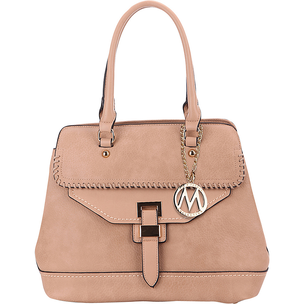 MKF Collection by Mia K. Farrow Stitched Mama Handbag Apricot - MKF Collection by Mia K. Farrow Manmade Handbags - Handbags, Manmade Handbags