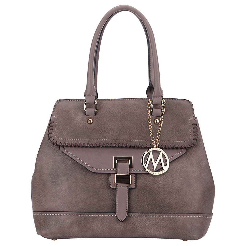 MKF Collection by Mia K. Farrow Stitched Mama Handbag Khaki - MKF Collection by Mia K. Farrow Manmade Handbags - Handbags, Manmade Handbags