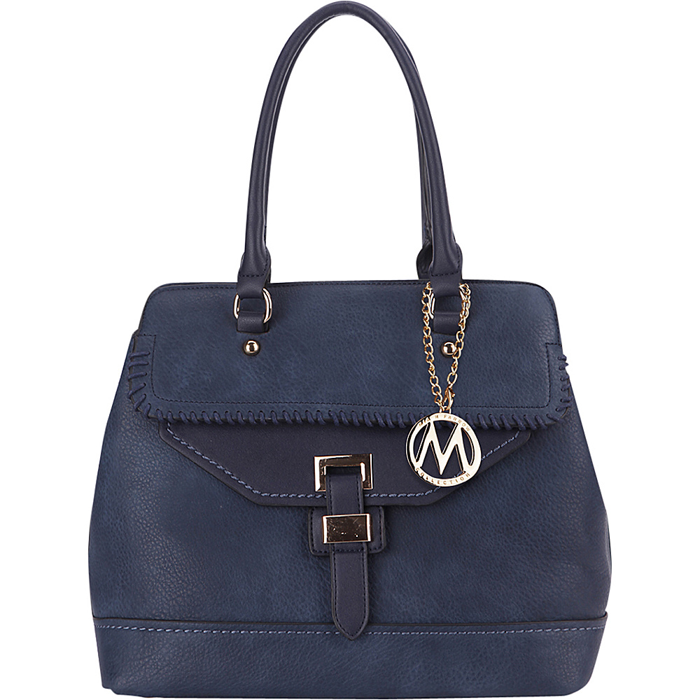 MKF Collection by Mia K. Farrow Stitched Mama Handbag Navy - MKF Collection by Mia K. Farrow Manmade Handbags - Handbags, Manmade Handbags