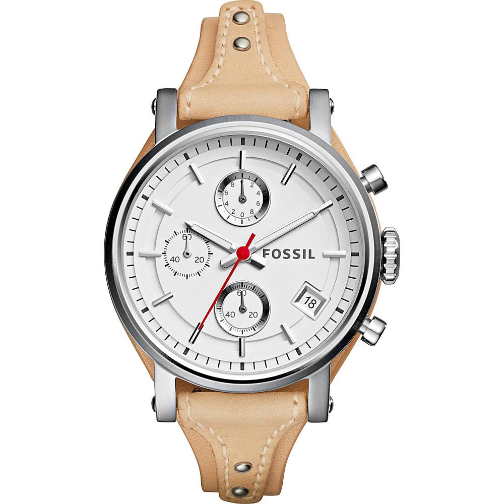 Fossil Original Boyfriend Sport Chronograph Watch Beige - Fossil Watches - Fashion Accessories, Watches