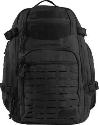 Highland Tactical Roger Tactical Backpack with Laser Cut MOLLE Webbing Black - Highland Tactical Tactical