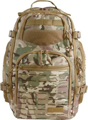 Highland Tactical Roger Tactical Backpack with Laser Cut MOLLE Webbing Camo - Highland Tactical Tactical