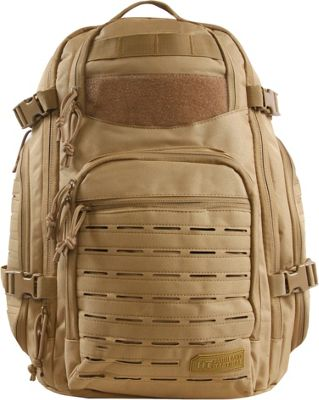Highland Tactical Roger Tactical Backpack with Laser Cut MOLLE Webbing Desert - Highland Tactical Tactical