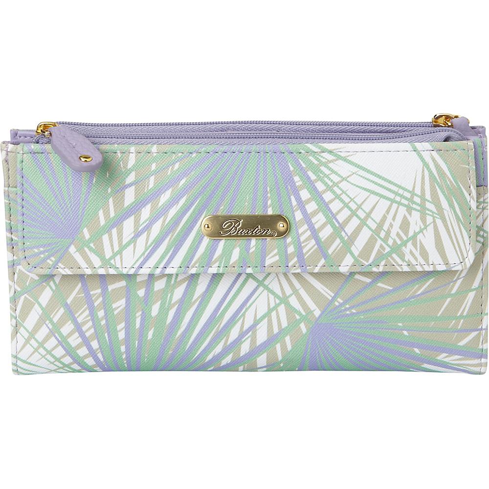 Buxton Tropical Palms Cosmopolitan Wallet Wisteria - Buxton Womens Wallets - Women's SLG, Women's Wallets