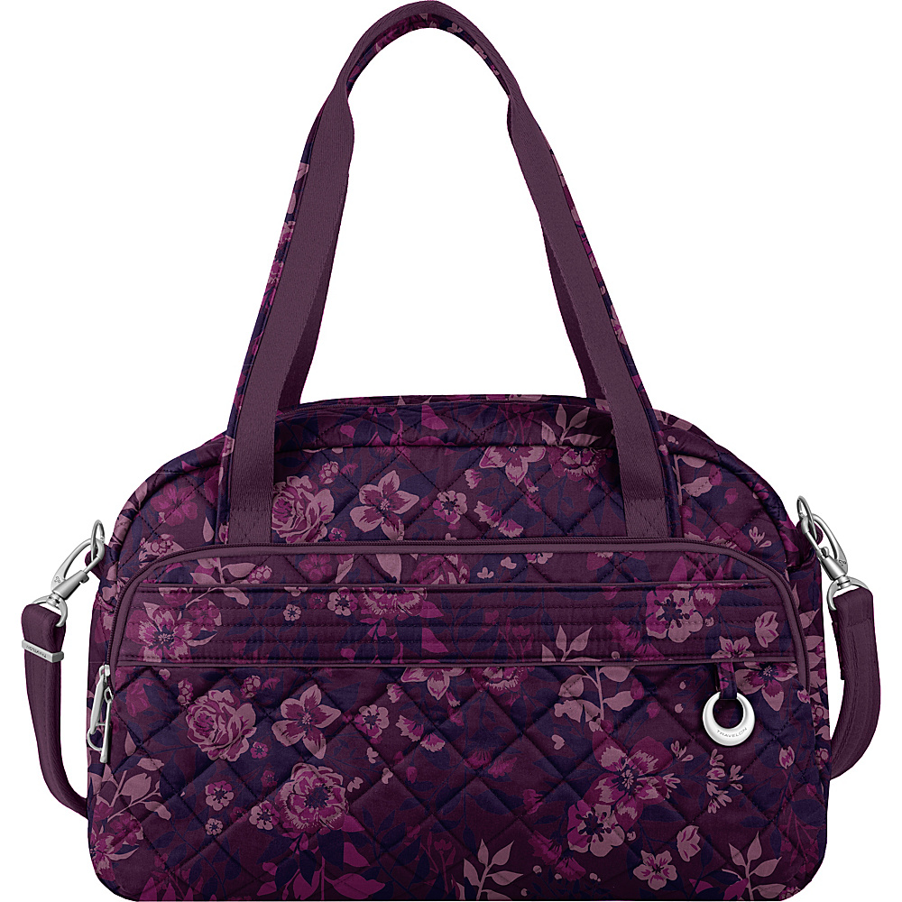 Travelon Anti-Theft Boho Weekender Wine Rose/Fawn Interior - Travelon Luggage Totes and Satchels - Luggage, Luggage Totes and Satchels