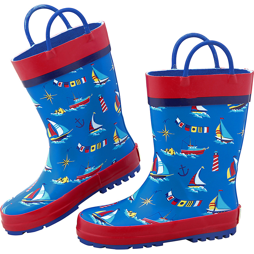 Stephen Joseph Kids Rain Boot 7 (US Toddlers) - Nautical - Stephen Joseph Womens Footwear - Apparel & Footwear, Women's Footwear