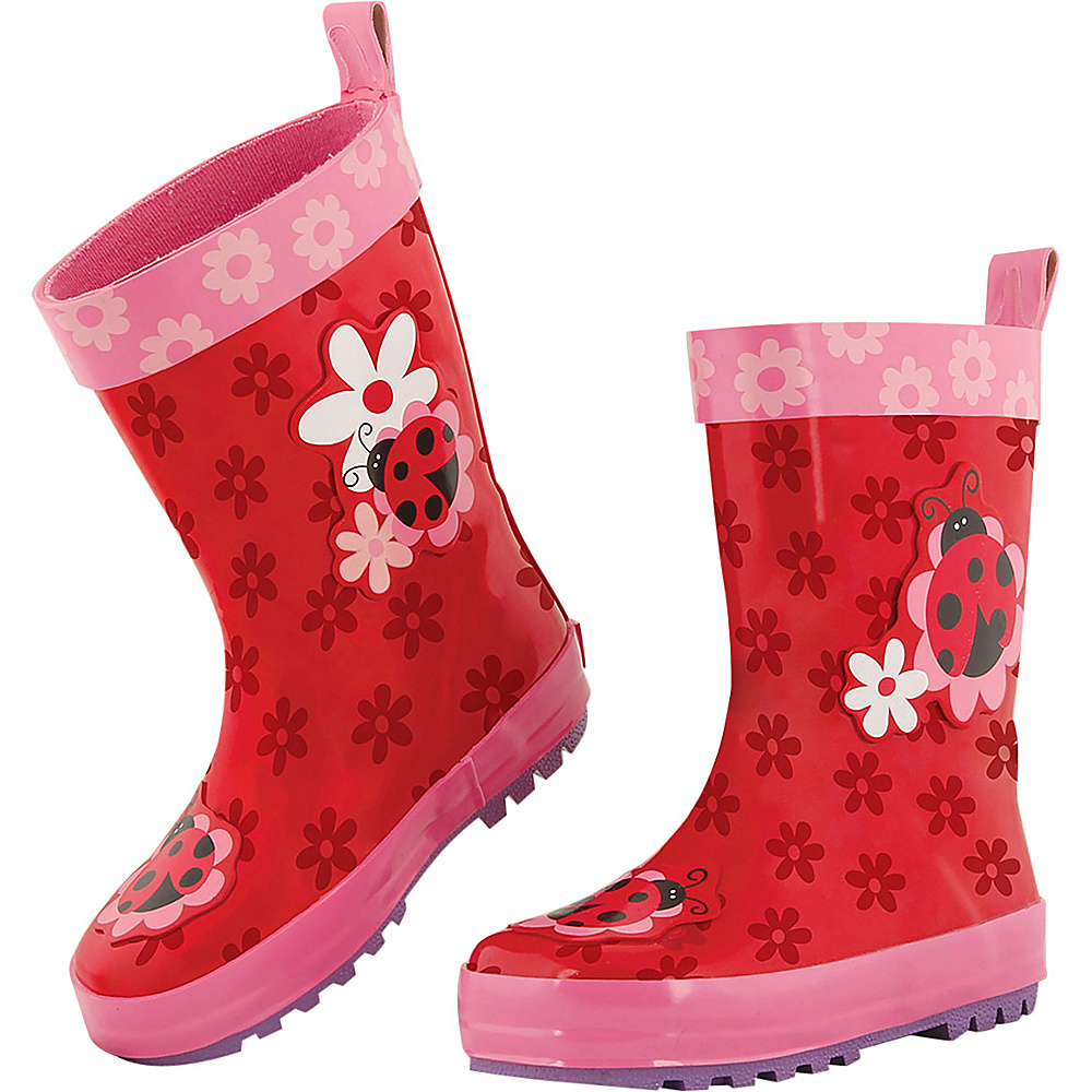 Stephen Joseph Kids Rain Boot 10 (US Toddlers) - Ladybug - Stephen Joseph Womens Footwear - Apparel & Footwear, Women's Footwear