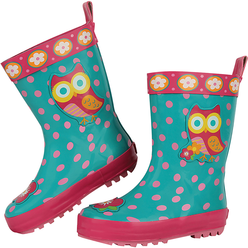Stephen Joseph Kids Rain Boot 12 (US Kids) - Owl - Stephen Joseph Womens Footwear - Apparel & Footwear, Women's Footwear