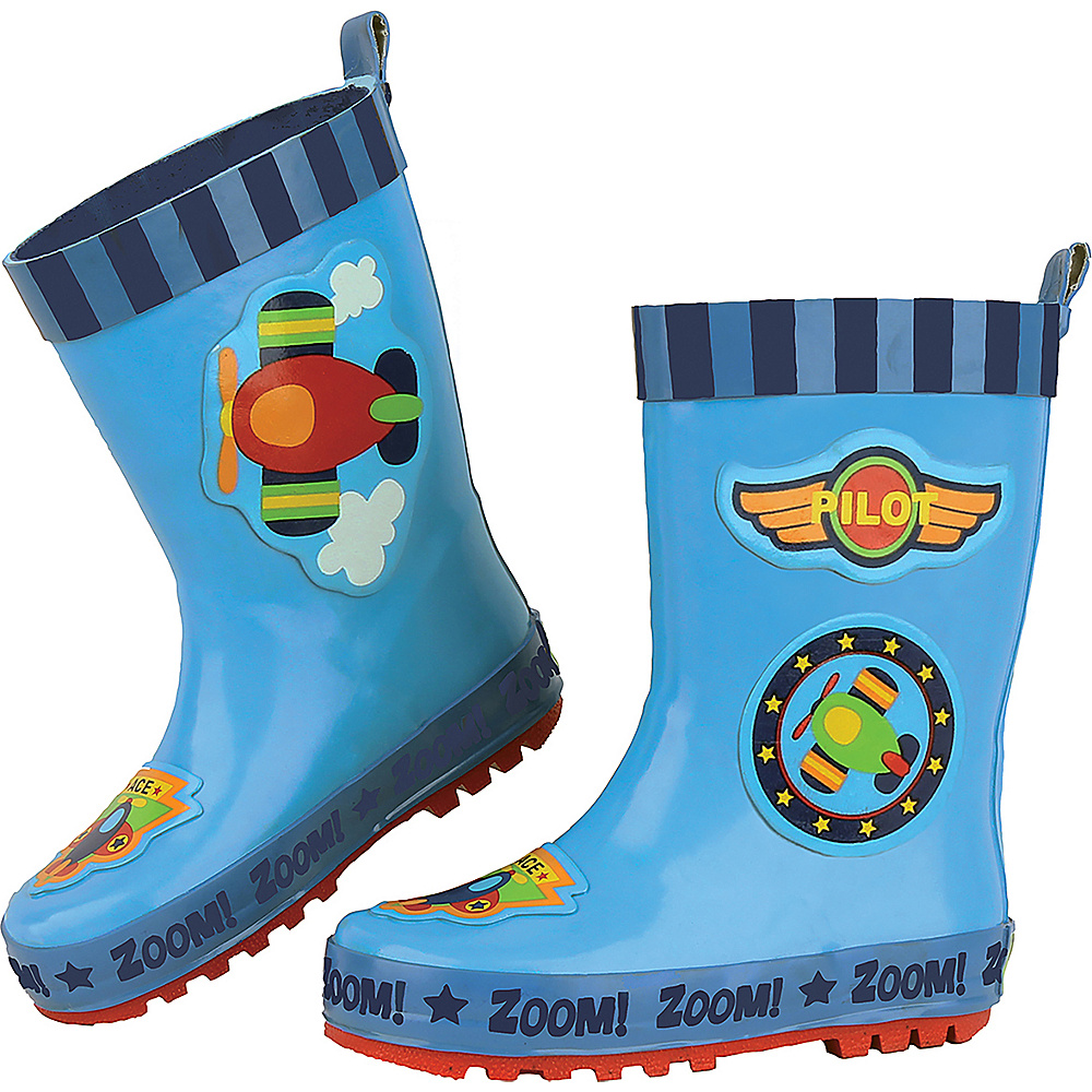 Stephen Joseph Kids Rain Boot 11 (US Kids) - Airplane - Stephen Joseph Womens Footwear - Apparel & Footwear, Women's Footwear