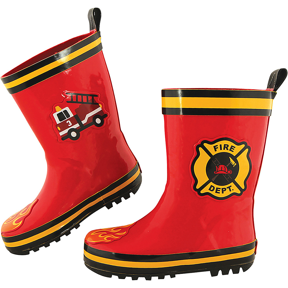 Stephen Joseph Kids Rain Boot 9 (US Toddlers) - Fire Truck - Stephen Joseph Womens Footwear - Apparel & Footwear, Women's Footwear
