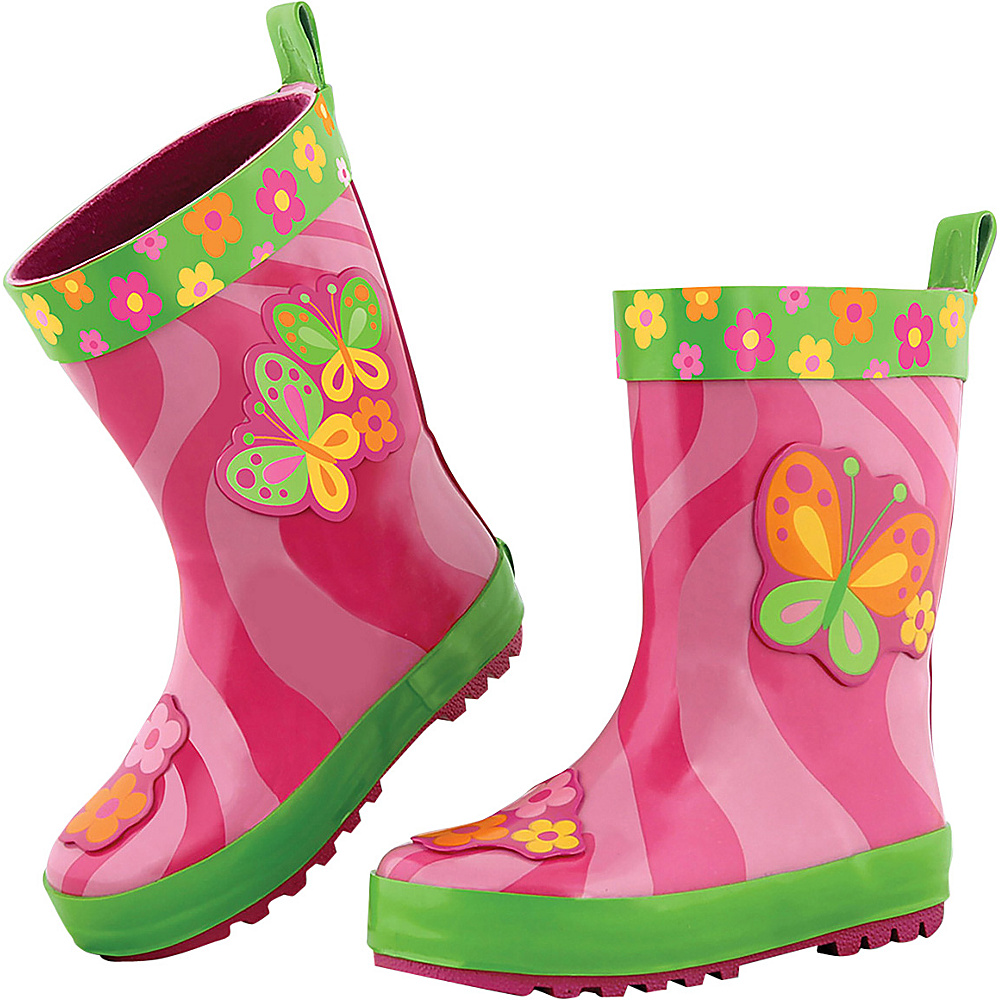Stephen Joseph Kids Rain Boot 10 (US Toddlers) - Butterfly - Stephen Joseph Womens Footwear - Apparel & Footwear, Women's Footwear