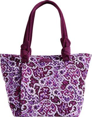 Vera Bradley Hadley East West Tote Lilac Paisley - Vera Bradley Fabric Handbags