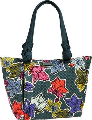 Vera Bradley Hadley East West Tote Falling Flowers - Vera Bradley Fabric Handbags