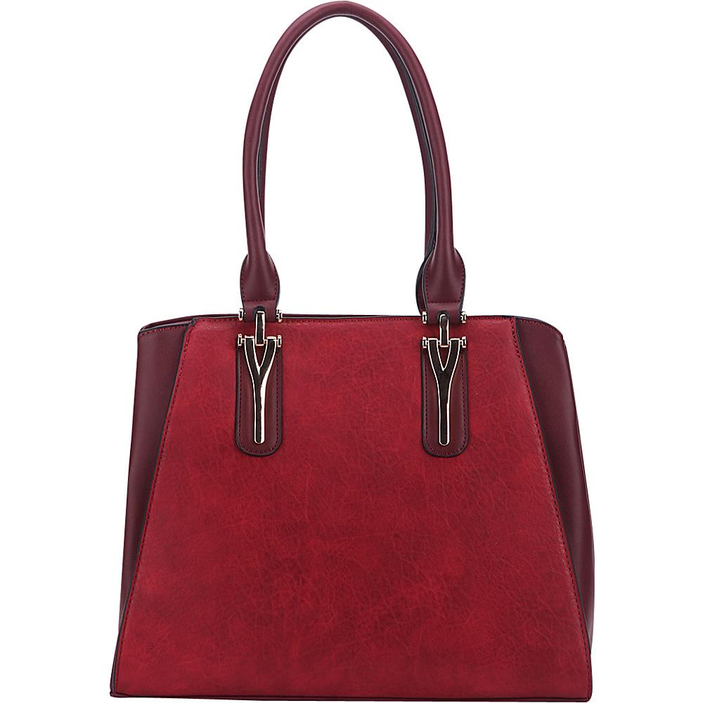 MKF Collection by Mia K. Farrow Stella Tote Bag Burgundy - MKF Collection by Mia K. Farrow Manmade Handbags - Handbags, Manmade Handbags