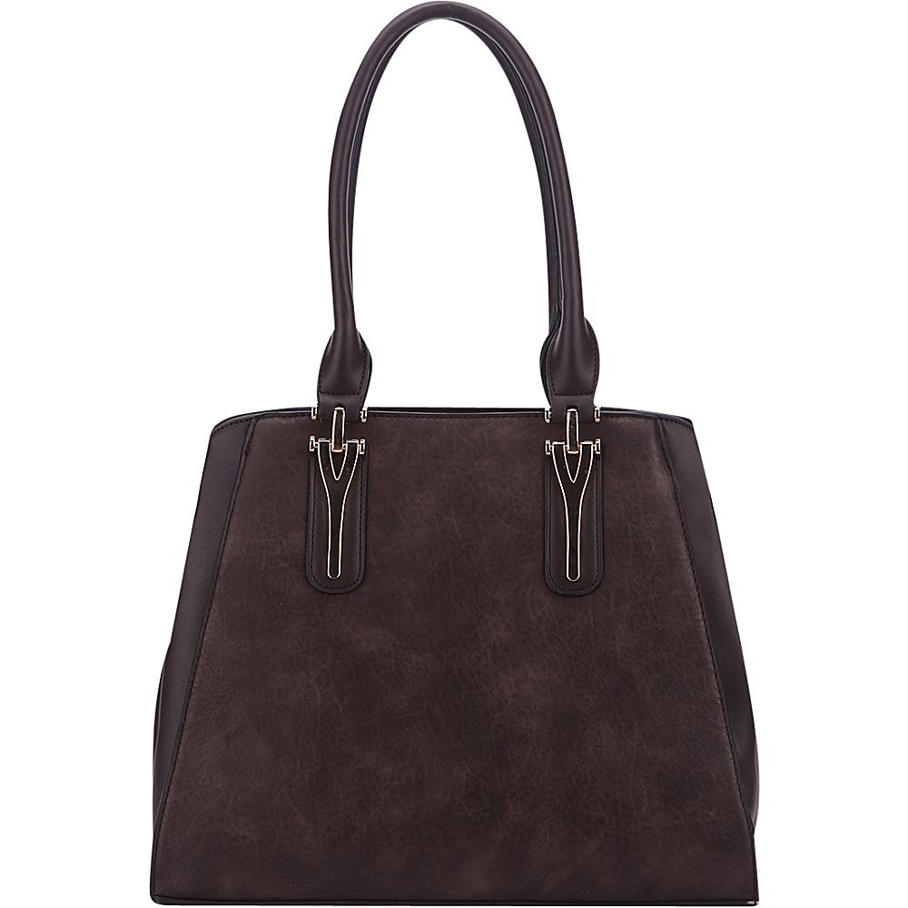 MKF Collection by Mia K. Farrow Stella Tote Bag Coffee - MKF Collection by Mia K. Farrow Manmade Handbags - Handbags, Manmade Handbags