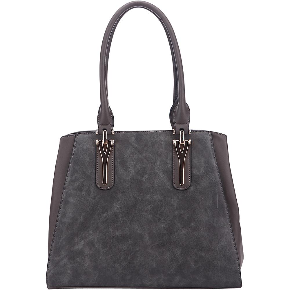 MKF Collection by Mia K. Farrow Stella Tote Bag Dark Grey - MKF Collection by Mia K. Farrow Manmade Handbags - Handbags, Manmade Handbags