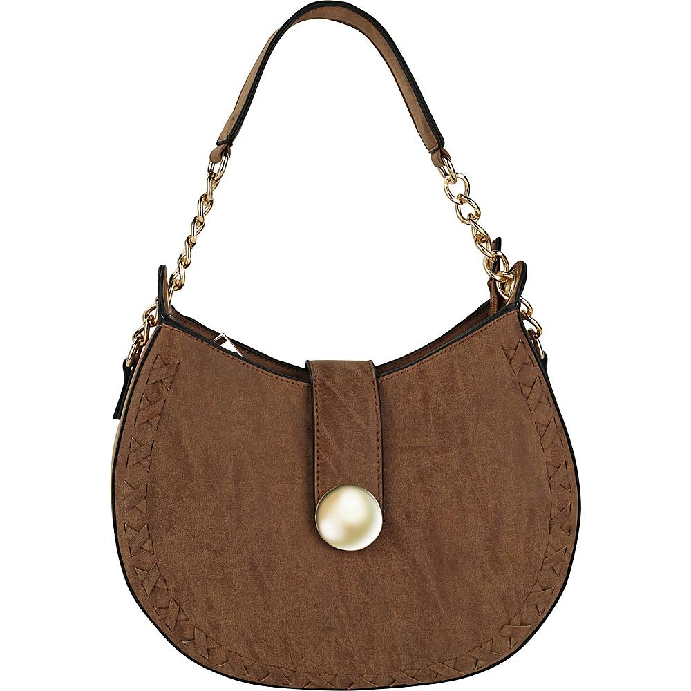 MKF Collection by Mia K. Farrow Aisha Crossbody Brown - MKF Collection by Mia K. Farrow Manmade Handbags - Handbags, Manmade Handbags