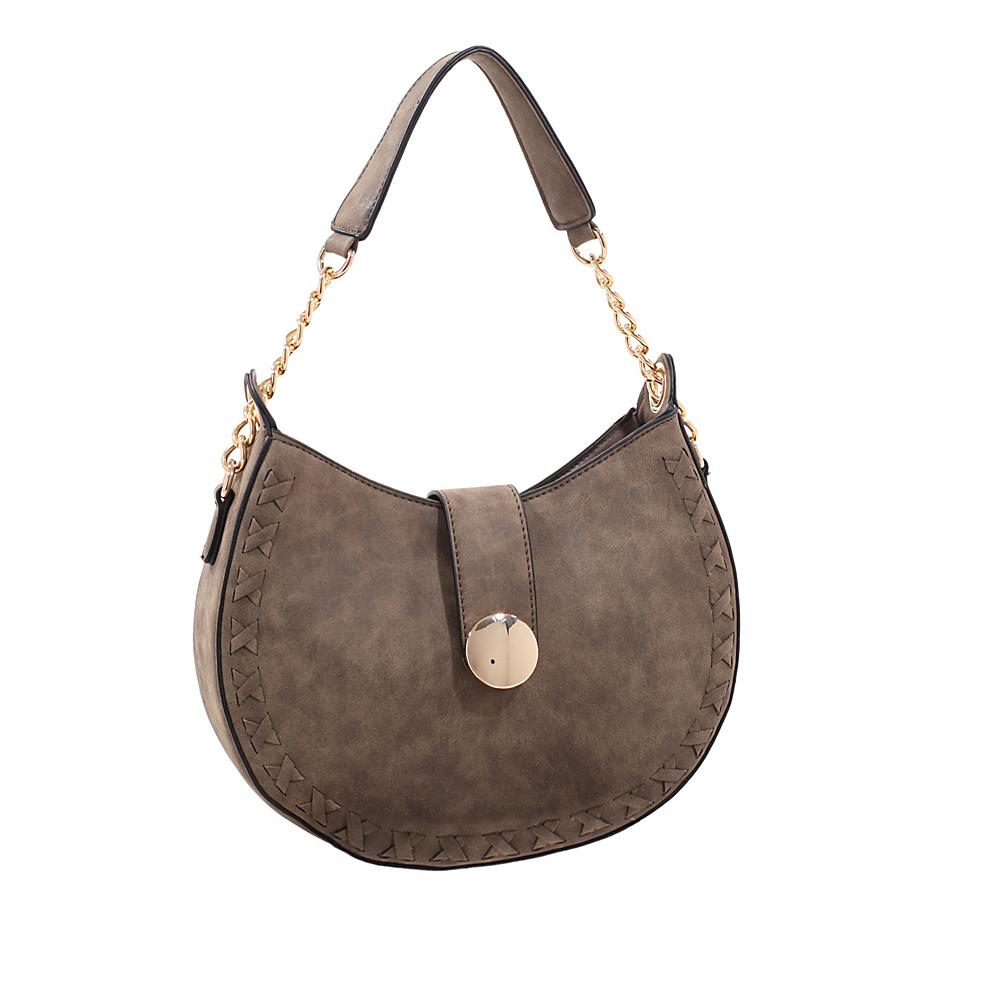 MKF Collection by Mia K. Farrow Aisha Crossbody Stone - MKF Collection by Mia K. Farrow Manmade Handbags - Handbags, Manmade Handbags