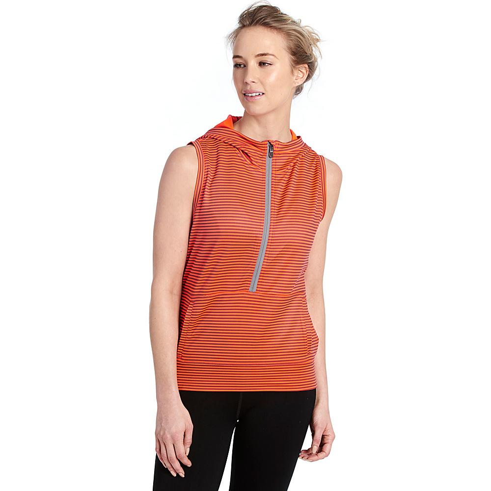 Lole Echo Hoodie XS - Fiery Coral Stripe - Lole Womens Apparel - Apparel & Footwear, Women's Apparel