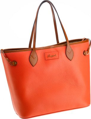 Rapport London Mayfair Leather Tote Bag Orange - Rapport London Leather Handbags