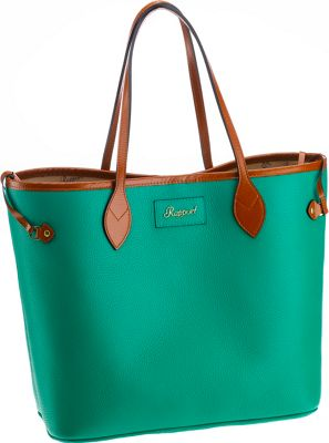 Rapport London Mayfair Leather Tote Bag Green - Rapport London Leather Handbags