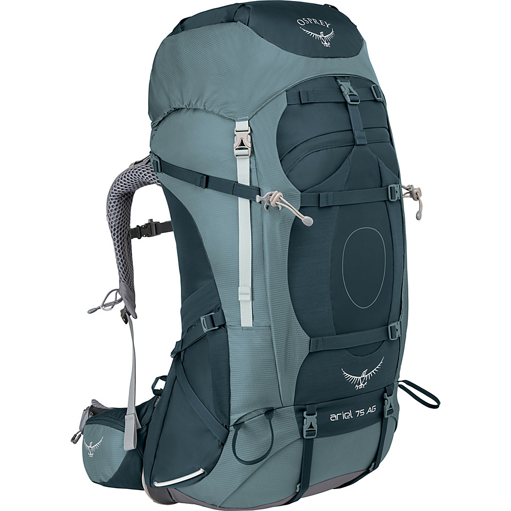 Osprey Womens Ariel AG 75 Hiking Pack Boothbay Grey – WS - Osprey Backpacking Packs - Outdoor, Backpacking Packs
