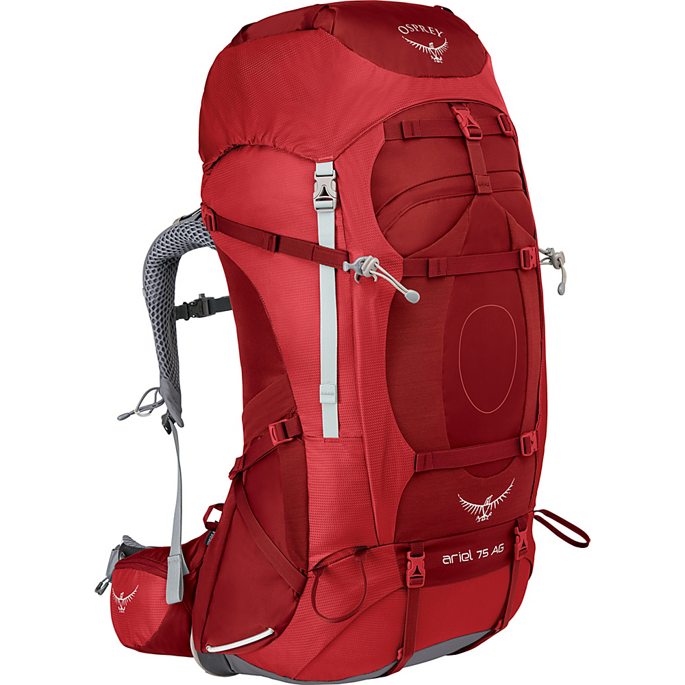 Osprey Womens Ariel AG 75 Hiking Pack Picante Red – WM - Osprey Backpacking Packs - Outdoor, Backpacking Packs