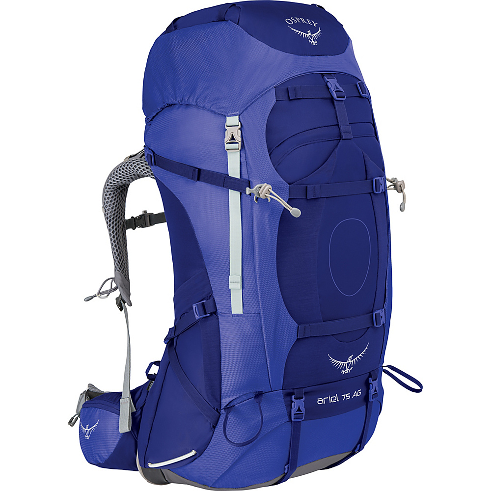 Osprey Womens Ariel AG 75 Hiking Pack Tidal Blue – WS - Osprey Backpacking Packs - Outdoor, Backpacking Packs
