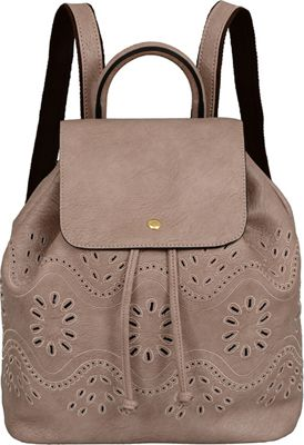 Mellow World Addy Backpack Taupe - Mellow World Manmade Handbags
