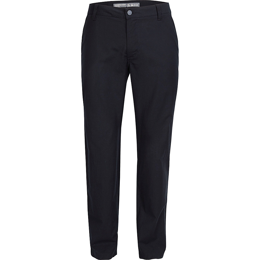 Icebreaker Mens Perpetual Pants 28 - Black - Icebreaker Mens Apparel - Apparel & Footwear, Men's Apparel
