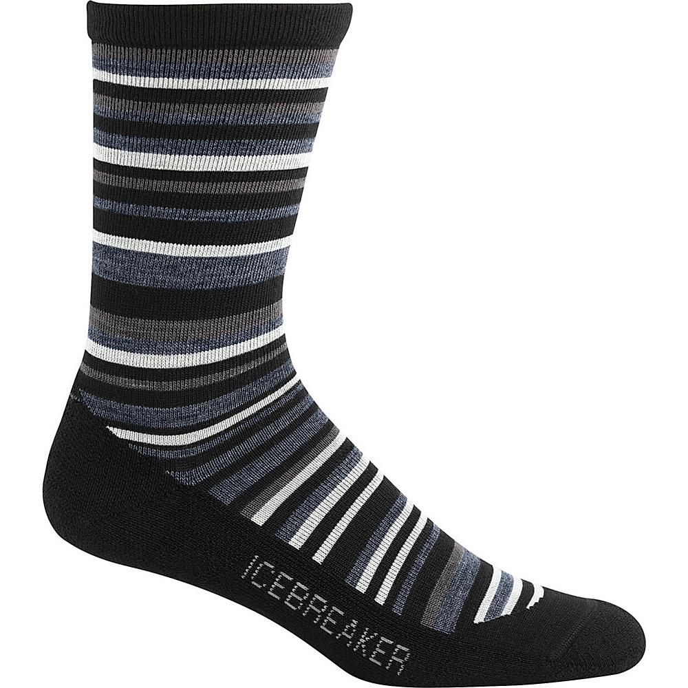 Icebreaker Mens Lifestyle Light Crew Sock L - Black/Brazil/Oil - Icebreaker Legwear/Socks - Fashion Accessories, Legwear/Socks