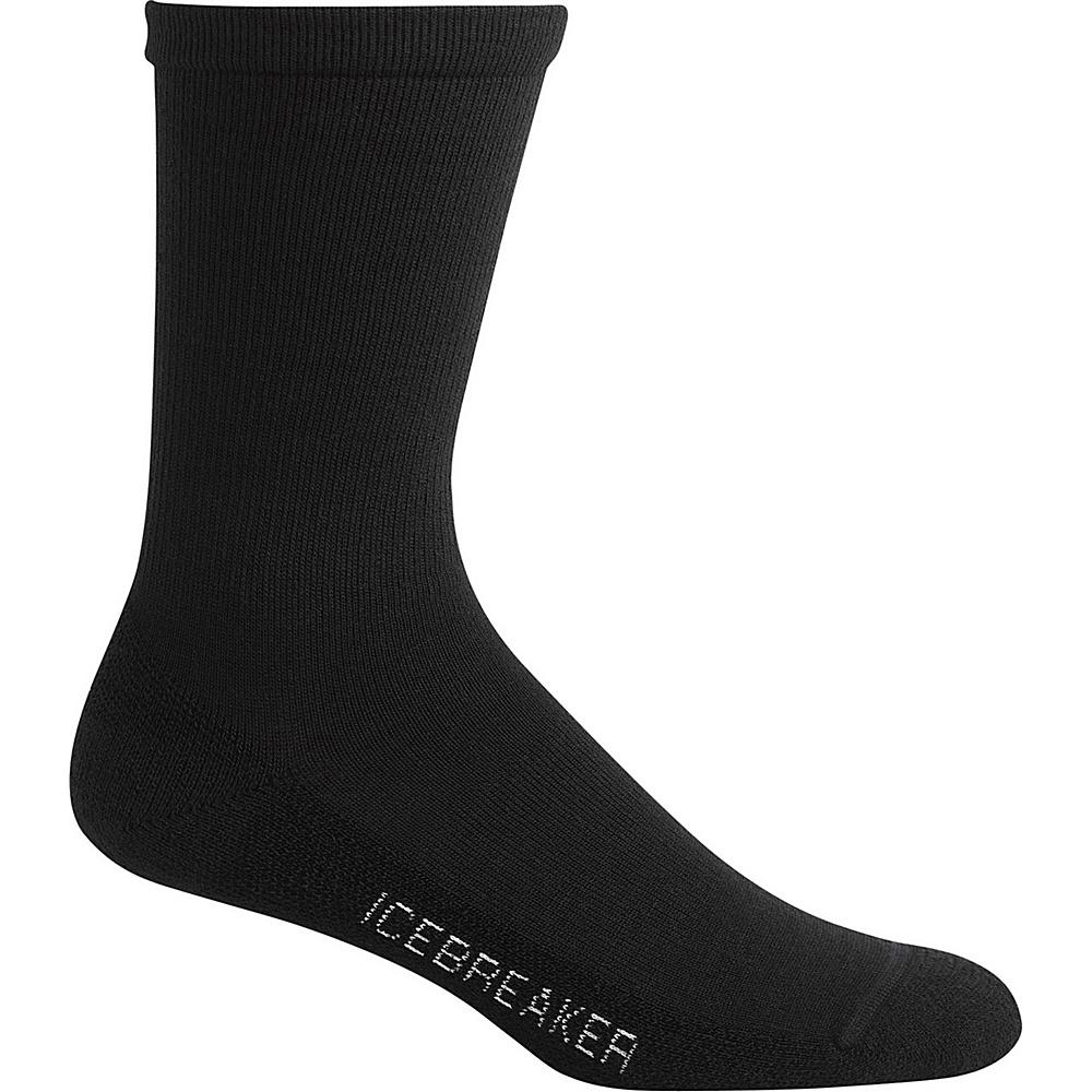 Icebreaker Mens Lifestyle Light Crew Sock S - Black - Icebreaker Legwear/Socks - Fashion Accessories, Legwear/Socks