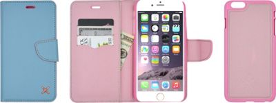 Candywirez Case Study Wallet for iPhone 6S Plus Pastel Pink - Candywirez Electronic Cases