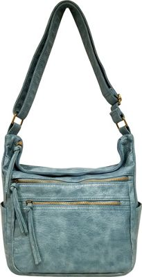 Bueno Antique Pebble Washed Shoulder Bag Chambray - Bueno Manmade Handbags