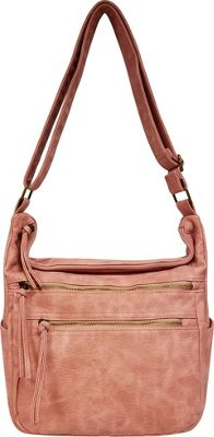 Bueno Antique Pebble Washed Shoulder Bag Light Pink - Bueno Manmade Handbags