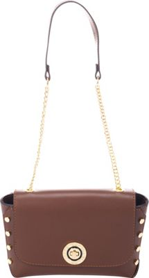Lisa Minardi Flap Over Shoulder Bag Brown - Lisa Minardi Leather Handbags