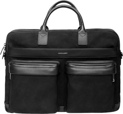 Hook & Albert Casual Briefcase Black - Hook & Albert Non-Wheeled Business Cases