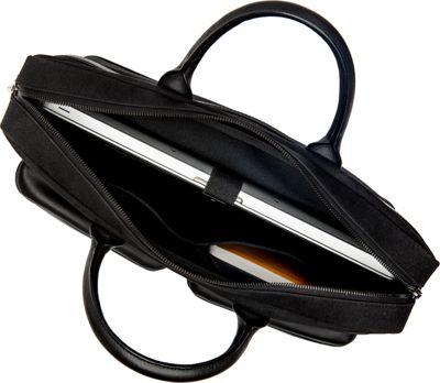 Hook & Albert Casual Briefcase Black - Hook & Albert Non-Wheeled Business Cases