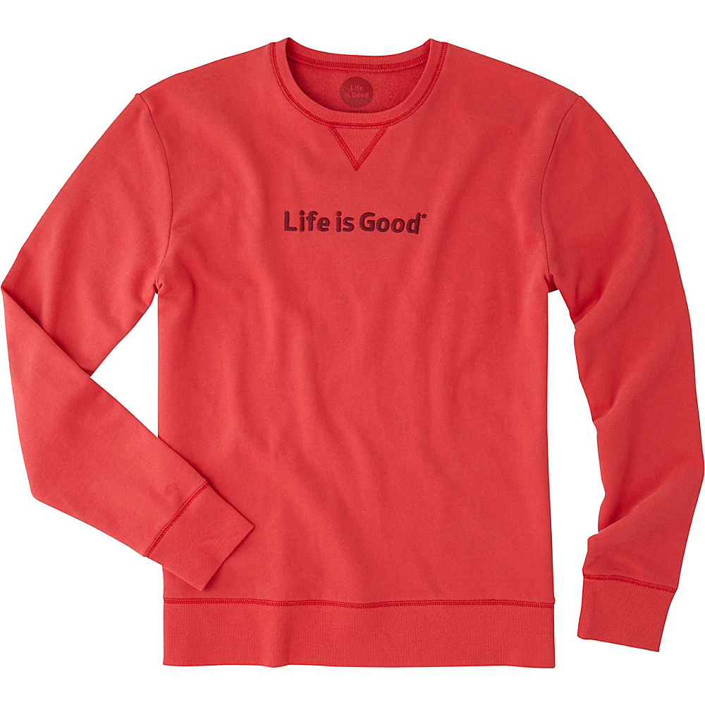 Life is good Mens Go-To Crew LIG S - Americana Red - Life is good Mens Apparel - Apparel & Footwear, Men's Apparel