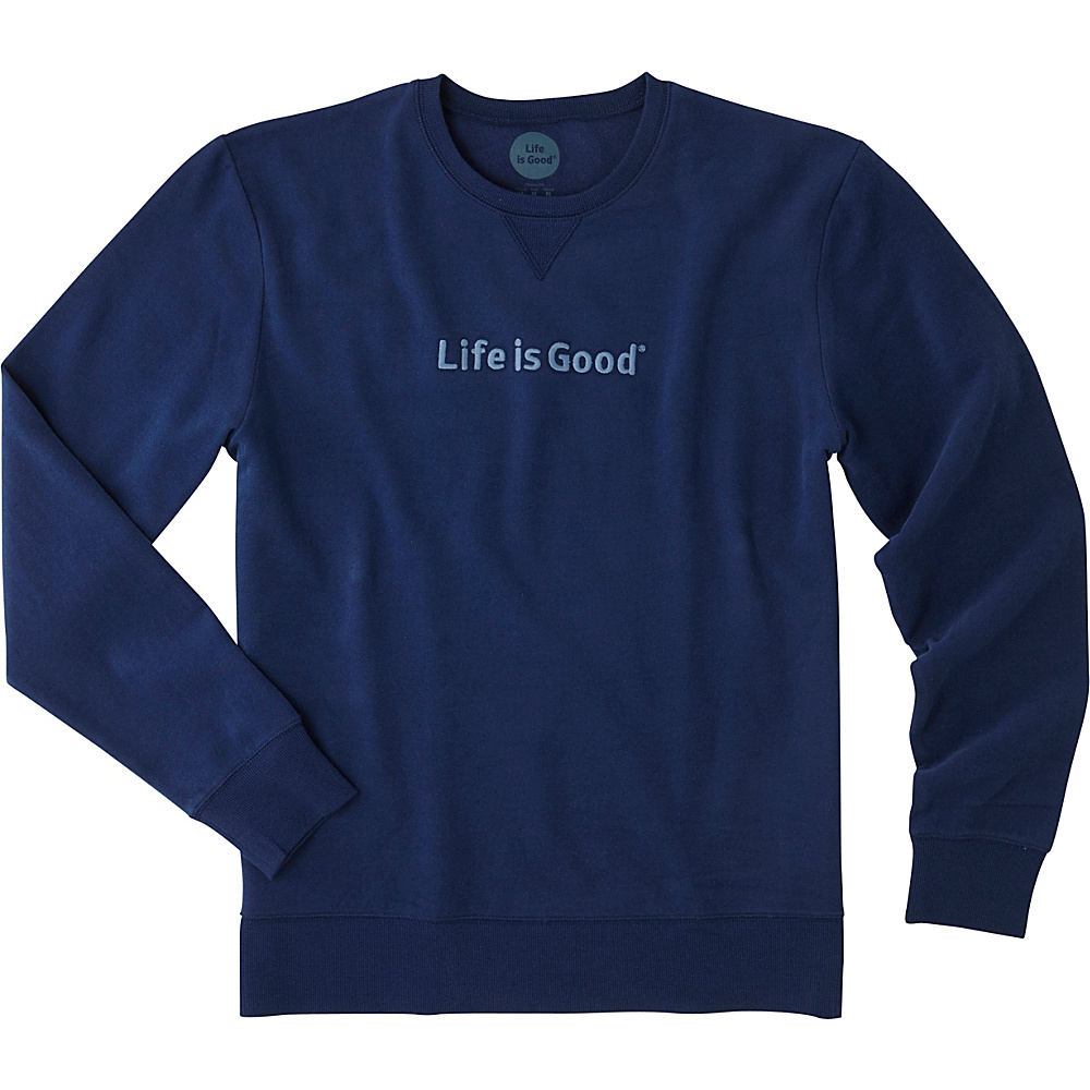 Life is good Mens Go-To Crew LIG S - Darkest Blue - Life is good Mens Apparel - Apparel & Footwear, Men's Apparel