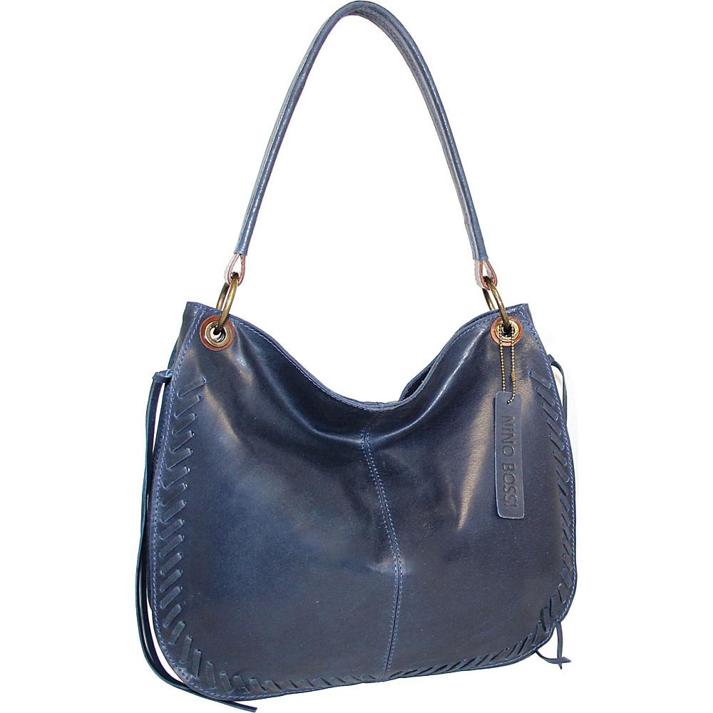 Nino Bossi Kaylee Leather Hobo Denim - Nino Bossi Leather Handbags - Handbags, Leather Handbags