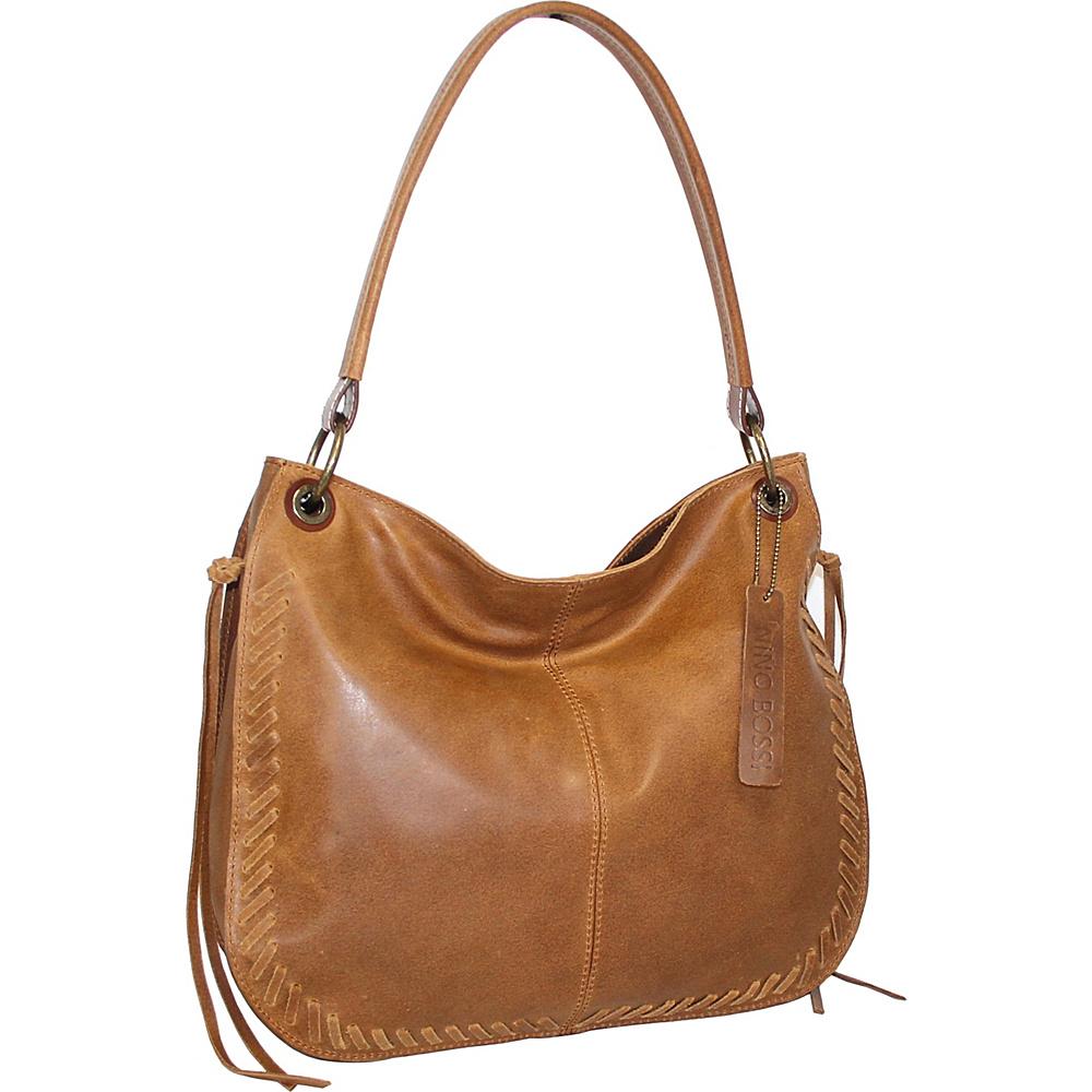Nino Bossi Kaylee Leather Hobo Saddle - Nino Bossi Leather Handbags - Handbags, Leather Handbags