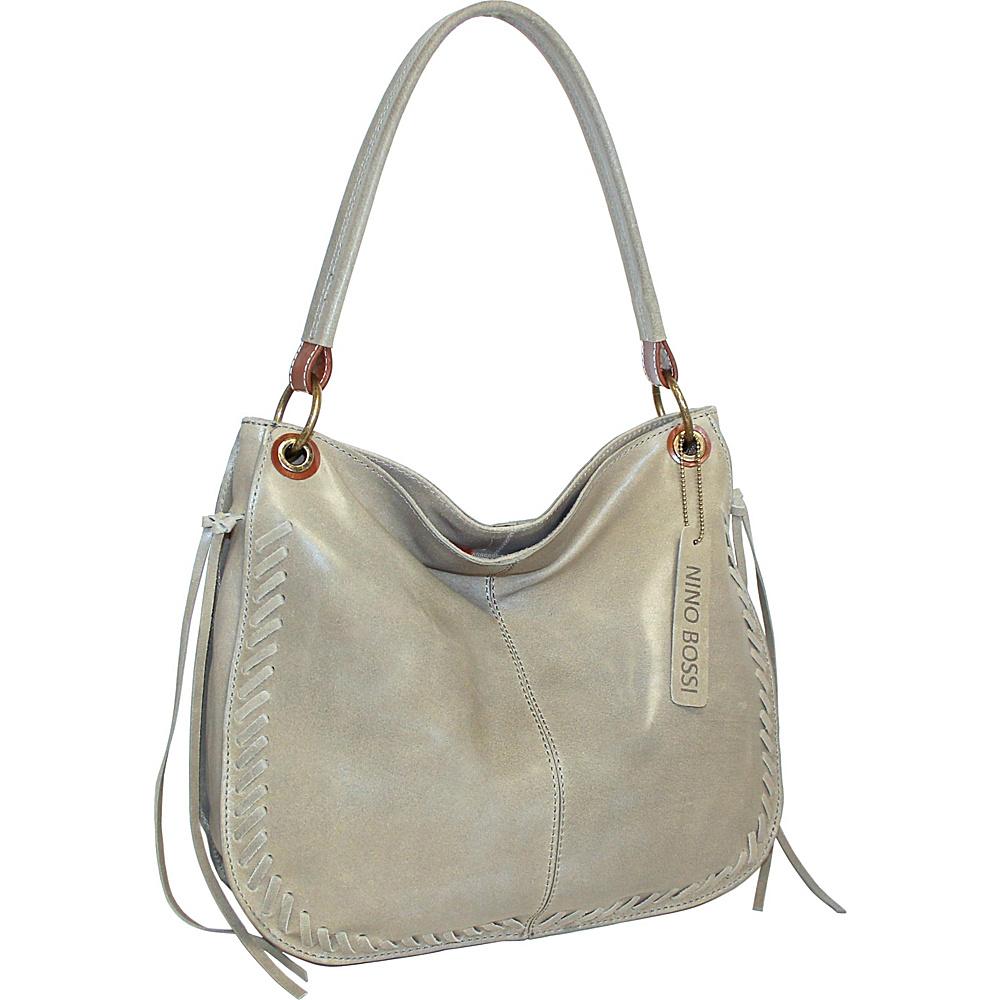 Nino Bossi Kaylee Leather Hobo Stone - Nino Bossi Leather Handbags - Handbags, Leather Handbags