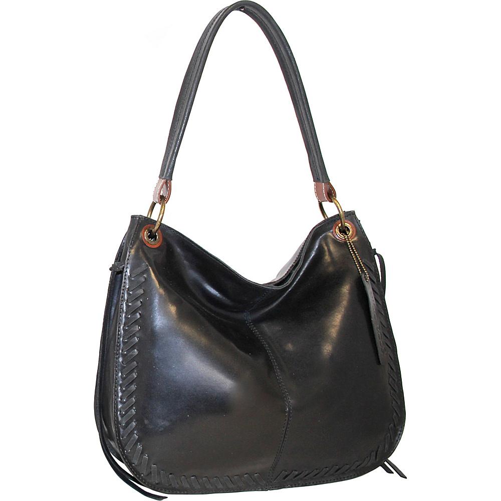 Nino Bossi Kaylee Leather Hobo Black - Nino Bossi Leather Handbags - Handbags, Leather Handbags