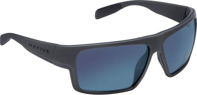 Native Eyewear Eldo Sunglasses Granite/Matte Black/Granite with Polarized Blue Re - Native Eyewear Eyewear