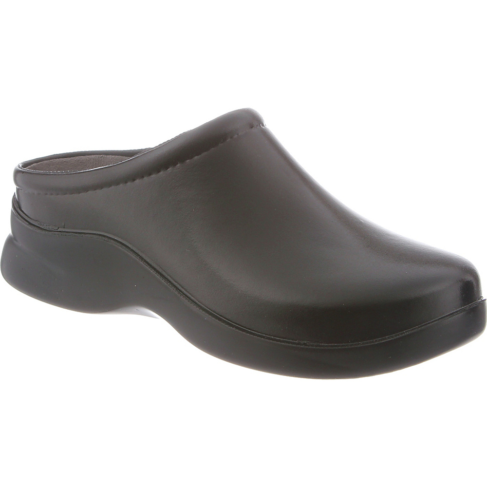 KLOGS Footwear Womens Dusty 10 - W (Wide) - Gloss Black - KLOGS Footwear Womens Footwear - Apparel & Footwear, Women's Footwear